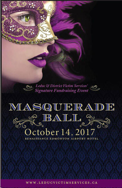 Leduc Victim Services 2017 Masquerade Ball poster